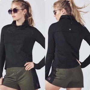 Fabletics Jolie Jacket Pullover Funnel Neck Lace